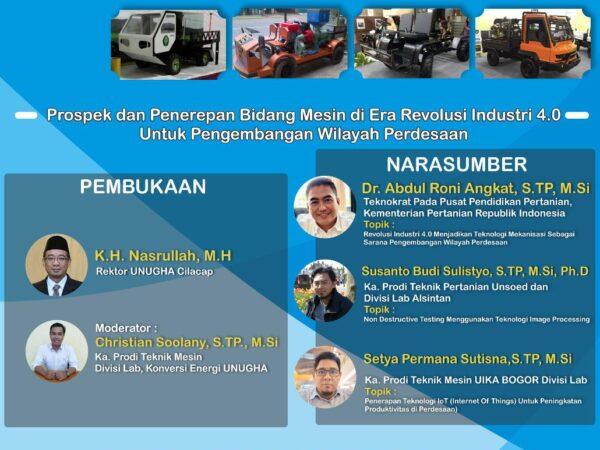 Webinar : Prospek dan Penerepan Bidang Mesin di Era Revolusi Industri 4.0 Untuk Pengembangan Wilayah Perdesaan